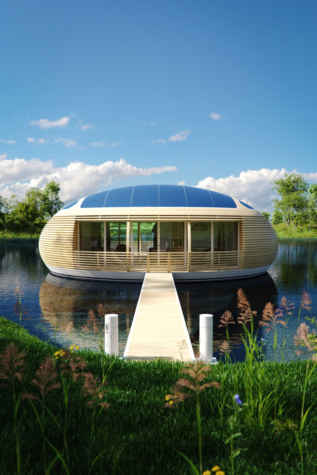 WaterNest 100 Floating House By Giancarlo Zema