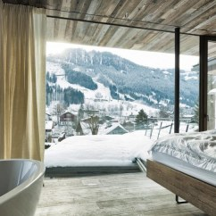 Short Kitchen Curtains White Undermount Sink Country-house: Austrian Chalet With Amazing Interior Made ...