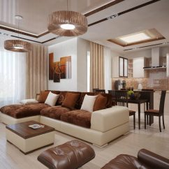 Brown Paint Schemes For Living Room How To Decorate With Black Leather Furniture The Interior Of A In Color Features Photos Colors Examples 4