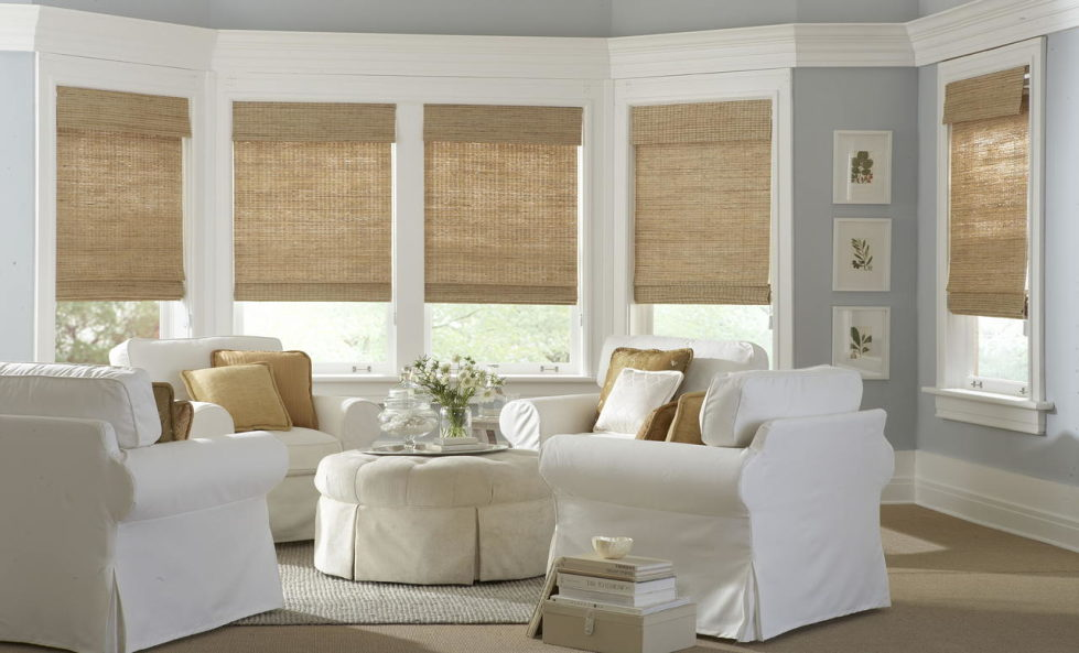 blinds for living room with curtains white end tables the best photos of design bamboo 2