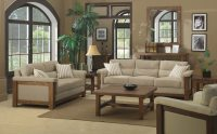 Beige And Brown Living Room