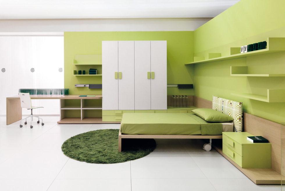 Green Color Wall Interior Design Novocom Top