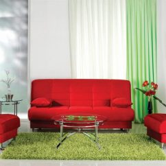 Green And Red Living Room Ideas Striped Chairs Combination Of The Color In Interior Colors