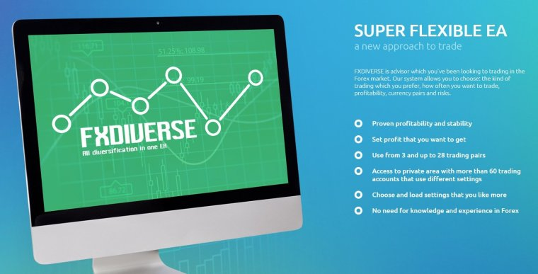 FxDiverse EA Review - Super Flexible And Reliable Forex Expert Advisor For Metatrader 4 And Profitable FX Trading Robot For 28 Different Currency Pairs