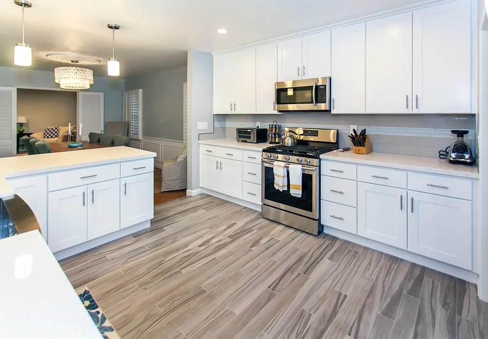 shaker kitchen cabinets 2 seater table how white improve your home value best online