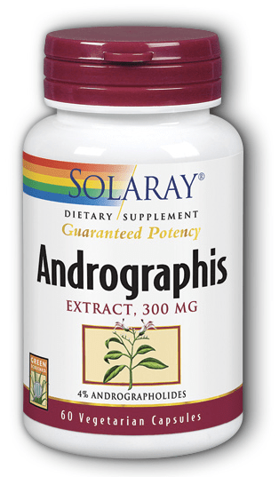 Andrographis Extract 300 mg 60 Caps  made by solaray