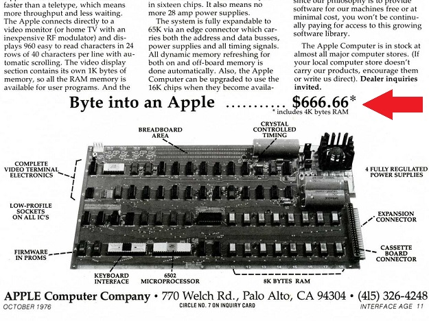 apple 1 666