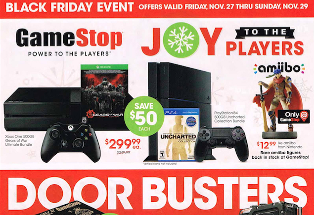Gamestop S Full Black Friday Ad Leaks Hot Ps4 Xbox One