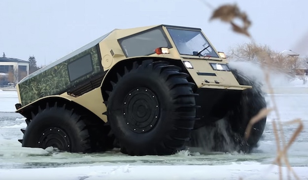 russian sherp atv can impressively drive through water bgr. Black Bedroom Furniture Sets. Home Design Ideas