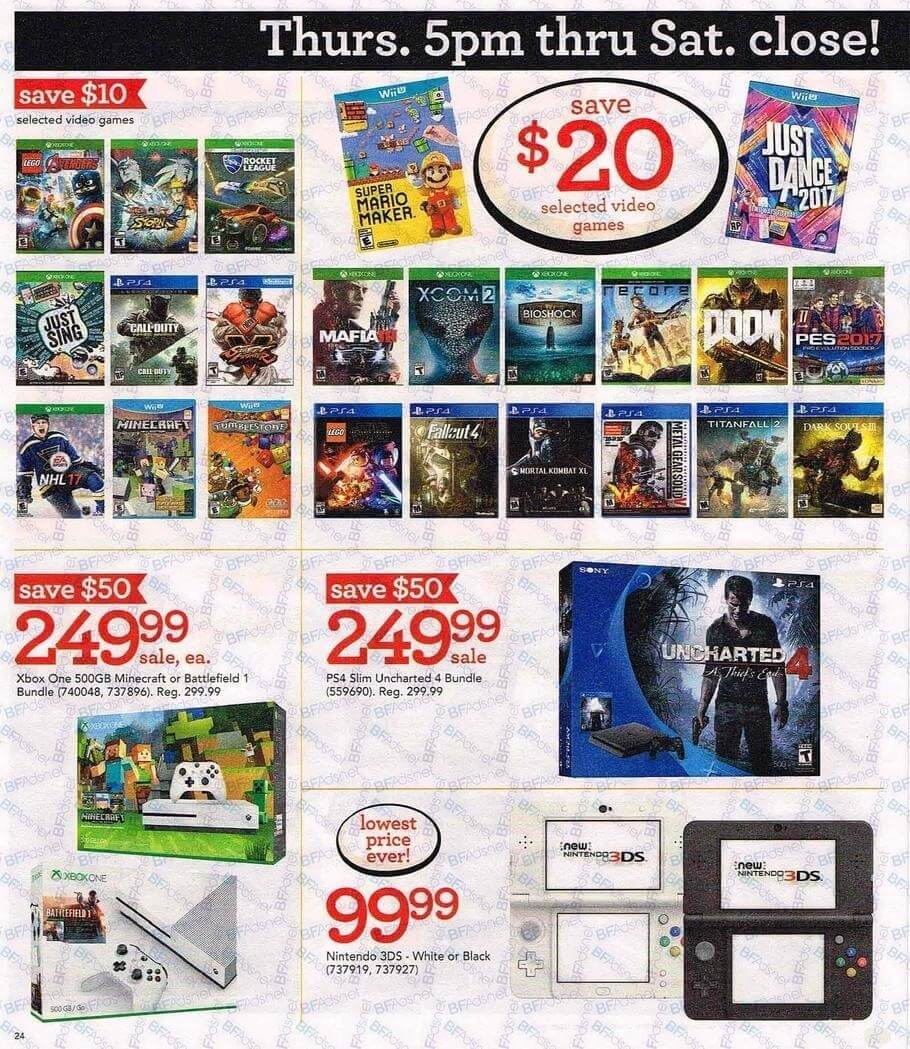 Toys R Us Black Friday 2016 Ad Huge Sales On Video Games
