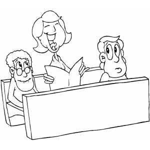 Inside A Church Coloring Page Coloring Pages