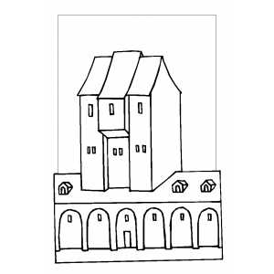 Monastery Coloring Page