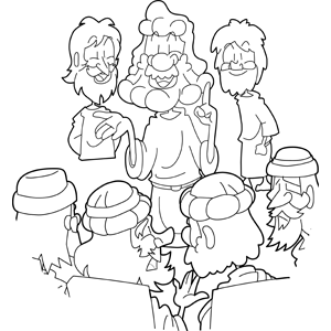 Jesus Preaching in the Temple coloring page