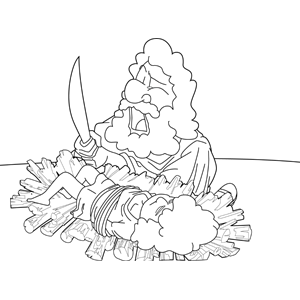 Abraham and the Offering of Isaac Coloring Page