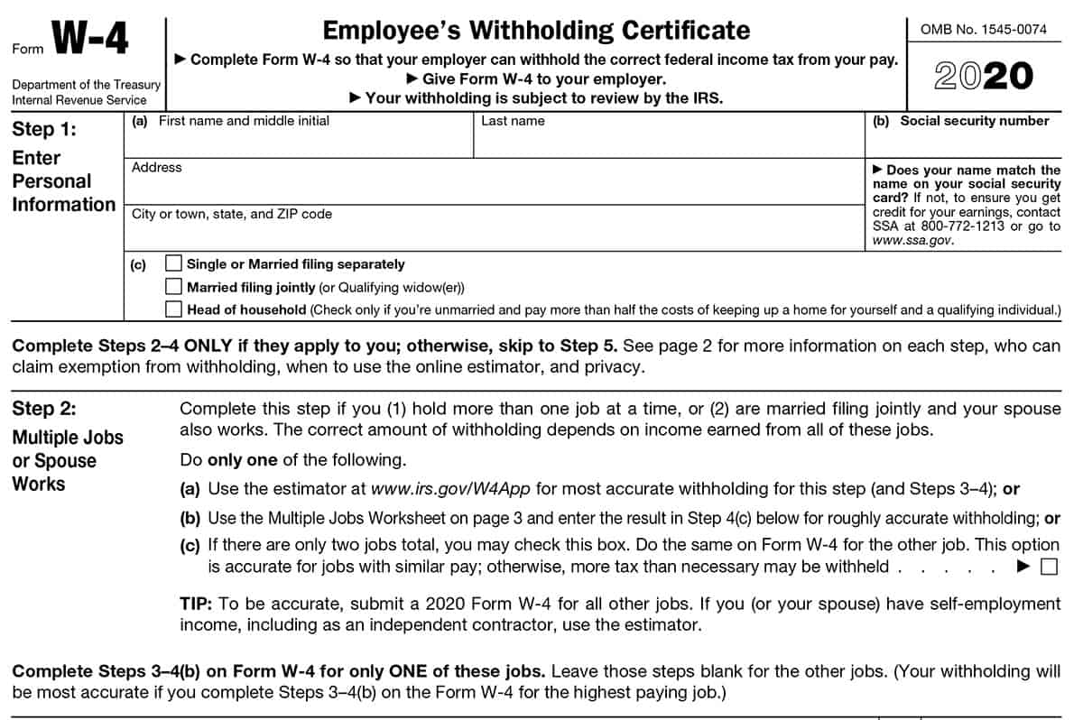 How To Fill Out Form W 4 In Adjusting Your Paycheck