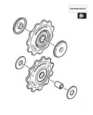 Shimano RD-7800 Tension Guide Pulley Set Y5V598150