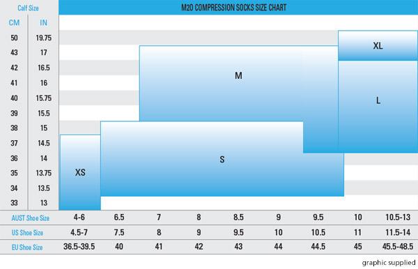 m2o size chart