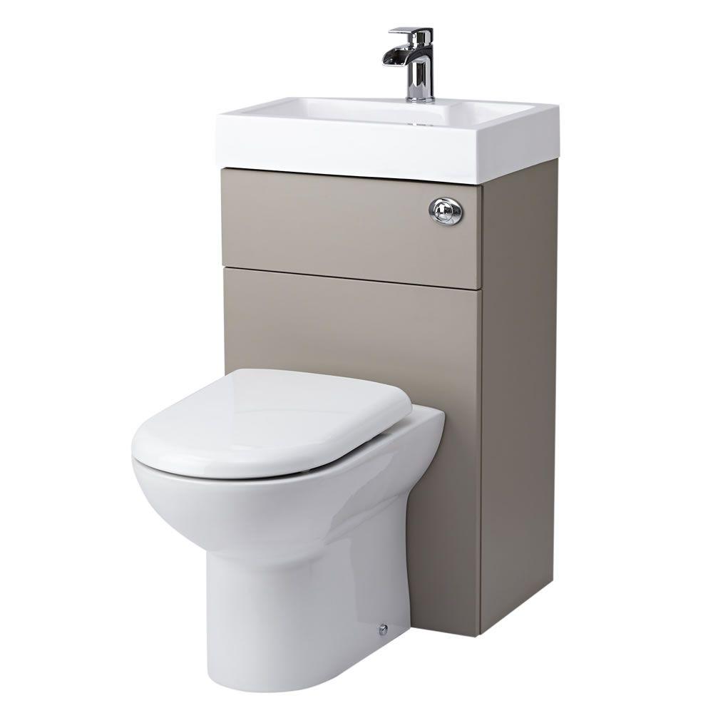 Milano - Stone Grey Modern Linton Toilet and Basin Unit ...