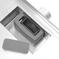 Milano 250mm Corner Stainless Steel Shower Drain with Grate