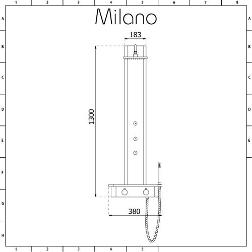small resolution of milano astley modern thermostatic exposed corner shower tower panel with hand shower body jets and shelf chrome