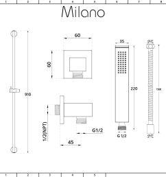 milano hunston modern manual diverter shower valve 200mm square head and slide rail kit brushed nickel [ 1400 x 1400 Pixel ]