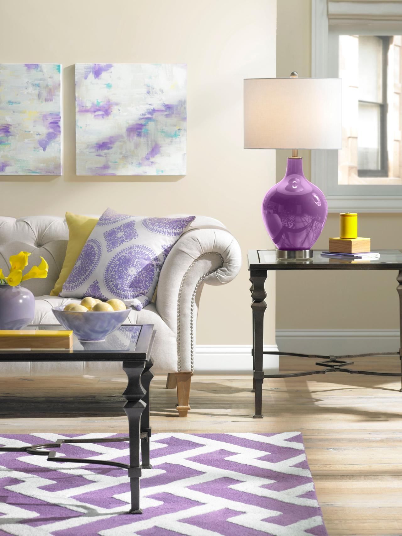 purple color for living room raymour and flanigan chairs 23 inspirational interior designs you must see contemporary blue apartment 1