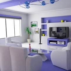 Purple Color For Living Room Decor Ideas Images 23 Inspirational Interior Designs You Must See Futuristic Tv