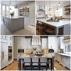 Kitchen Island Counter Black Trash Can Inspired Center Counters For Your Perfect Grey 1
