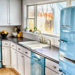 Colored Kitchen Appliances French Country Chairs Retro And Professional Big Chill Fun Colors Style In A Design
