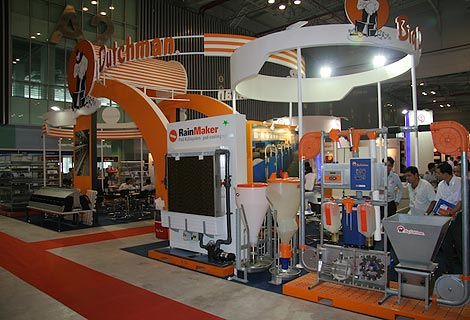 Modern poultry systems and pig equipment attract visitors