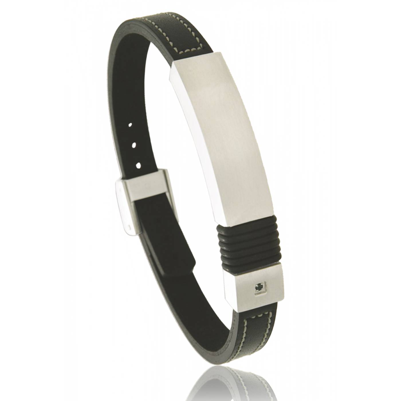 Bracelet Cuir Homme Grav Bracelet Cuir Homme Grav With