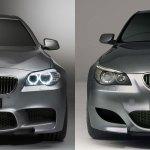 Bildvergleich Bmw Concept M5 F10 Vs Bmw Concept M5 E60