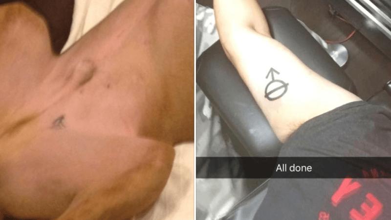 Este Joven Se Hizo Un Tatuaje Igual Al De Su Perro Y La Polémica Se