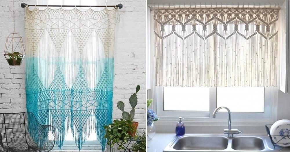 Cmo hacer tu propia cortina o tapiz colgante de macram