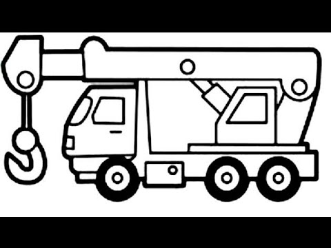 how to draw crane truck drawing painting car drawing jep