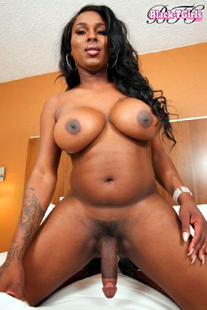 Big Tits Hung Black Tranny Cock