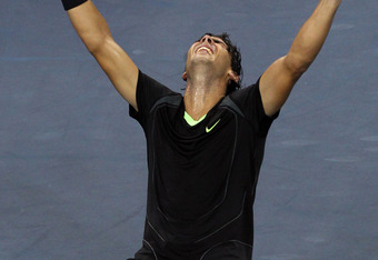NEW YORK - SEPTEMBER 13:  Rafael Nadal of Spain falls to his knees in celebration of his win over Novak Djokovic of Serbia during their men's singles final on day fifteen of the 2010 U.S. Open at the USTA Billie Jean King National Tennis Center on September 13, 2010 in the Flushing neighborhood of the Queens borough of New York City.  (Photo by Al Bello/Getty Images)