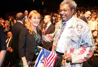 TEL AVIV - OCTOBER 27:  Duchess of York Sarah Ferguson (L) and American boxing promoter Don King speak during the concert celebration for the Peres Center for Peace's10th anniversary at the Tel Aviv opera October 27, 2008 in Tel Aviv, Israel. Nobel Peace Prize laureate Shimon Peres, the ninth President of the State of Israel, founded the non-profit Center for Peace as means to promote peace activities in the Middle East.  (Photo by Pavel Wolberg-Pool/Getty Images)