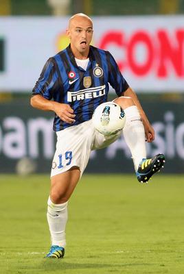 Inter Milan's Esteban Cambiasso
