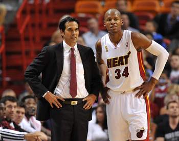 Eric Spoelstra wants Ray Allen back, and will attempt to recruit him over the offseason.