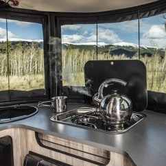Classic Kitchen Sink Wall Tile Airstream Basecamp Trailer