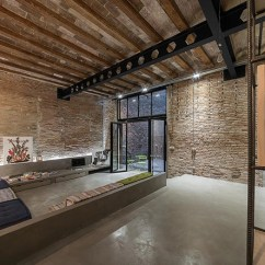 Wooden Chair Cushions Office Next Barcelona Industrial Loft
