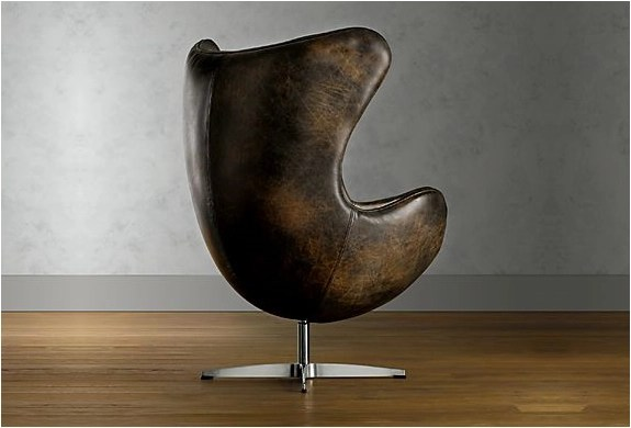 1950 Leather Compenhagen Chair  By Restoration Hardware