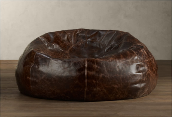 Grand Leather Bean Bag  By Restoration Hardware