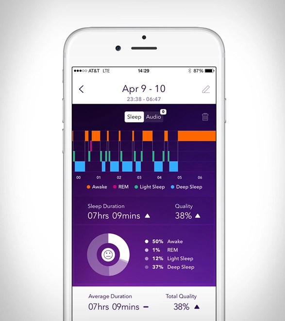 pillow sleep tracking alarm clock