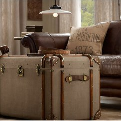 Lamp Living Room Wall Decor Ideas For Vintage Trunks | By Restoration Hardware