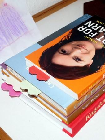 Hjemmelavede bogmærker.