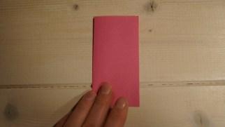 Fold papiret på midten