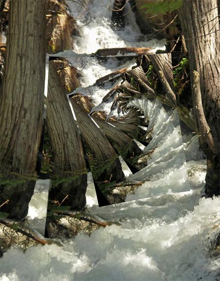 silver falls - droste effect