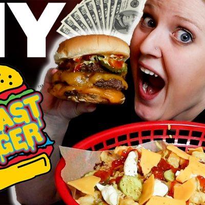 Copycat MrBeast Burger (ENTIRE MENU!) | The Starving Chef